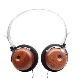 OKCSC Wooden Headphones Headset Noise Cancelling Headband Earphones for DJ Games Music High Quality Headset with Free Shipping