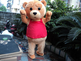 2017 Hottest Teddy Bear of TED Mascot Costume Adult Size Halloween Cartoon Mascot Costume Chrismas Fancy Dress