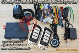 Wholesale GPS car alarm system GSM mobile opration mobile APP free download SMS start stop car engine GPS tracking system