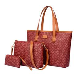 Wholesale Fashion Handbags Designer Tote Bags Newest European Plaid Stripe Three piece Composite Bags Shoulder Bag For Women Purse