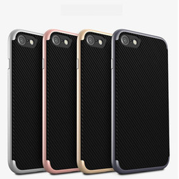 Wholesale Phone Cases For Iphone Plus Carbon Fiber Texture Dirt resistant Brand New Anti Knock TPU PC Protective Shell Hottest Products Fitted