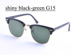 UV400 Brand Designer Sunglasses for Men Women Soscar Polarized Sunglasses Plank Frame Glass Lenses Metal Hinge 49 51mm Gafas de sol
