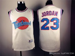 Wholesale Authentic Space Jam shirt Michael Basketball shirt BEST Tune Squad Basketball shirts stitched