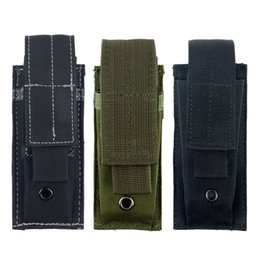Wholesale Molle Single Pistol Mag Magazine Pouch Flashlight Tool Knife Sheath Cartridge Clip Holster Belt Holder