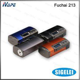 Wholesale 100 Original Sigelei Fuchai TC Box Mod W VW TC Mode Celsius Based TCR Calculation With Aluminum Alloy Construction