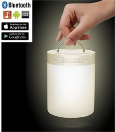 Wholesale Romantic atmosphere colorful lamp LV500 with HD audio bluetooth TF card music playback Mio color alarm clock touch control