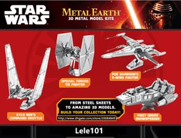 Wholesale Nano Puzzles Destroyer Droid Star Wars D metal model DIY Millennium Falcon X WING ATAT Mini Gift to children Originality
