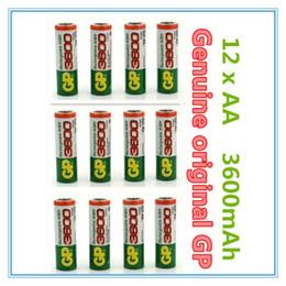 Wholesale 12 Pieces Original NiMH AA V Rechargeable NI MH Battery mAh bateria recargable gp AA battery pilas recargables