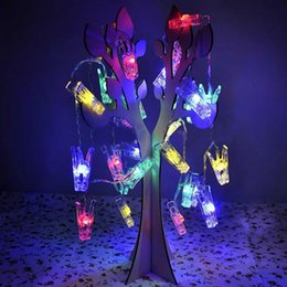 Wholesale Multi Color USB Clip String Light night light creative hang card photo wall Room decoration light flashing