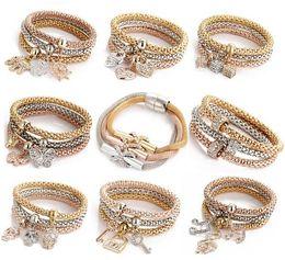 Wholesale Hot sale Mesh color Elasticity Stardust Bracelet for women With Crystal stones Charm Bracelets Bangles