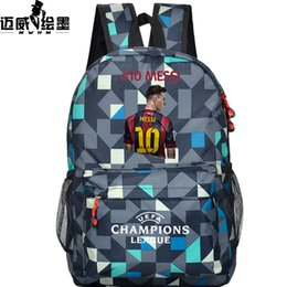 Wholesale football bag Messi backpack students backpack youth schoolbag soccer Lionel messi backpack male female bag kids gift