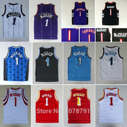 Wholesale Best Quality Toronto Tracy McGrady Huston All Stitched Embroidery Logos Orlando Basketball jersey