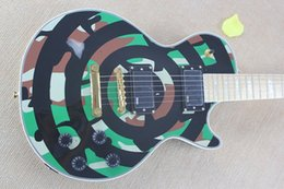 Factory Custom Shop camouflage color 6 Strings EMG pick-up Zakk Wylde Bullseye black Circle Electric Guitar Free shipping