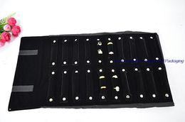 Fashion Jewelry Storage Bag Black Velvet Ring Jewelry Display Organizer Storage Case Velvet Ring Jewelry Organizer Roll Bag