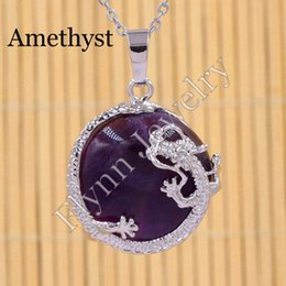 Silver Plated Amethyst Moonstone Natural Stone Slippers Mascot Reiki Pendant Charms Amulet European Fashion Jewelry 10pcs