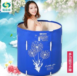 Wholesale Size cm With Pump Water Thickening Folding Tub Adult Bathtub Inflatable Bath Bucket Lift Bath Bucket