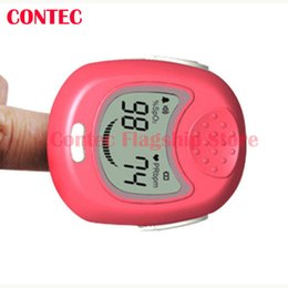 Wholesale PINK Kids Child Baby Heart Rate Children Fingertip Pulse Oxygen Blood SPO2 Oximeter Monitor Oximetro Home Use CMS50QA CMS QA