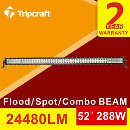Wholesale 52 W Offroad LED Light Bar Truck SUV Boat Trailer Wagon Van Camper Farm WD X4 SUV Bumper Roof Fog Lamp Headlight