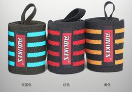 1 Pair Weight Lifting Wristband Gym Training Wrist Straps Wraps Sport Safety Wrist Support Fitness Bandage ZB-HBK023