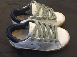 Wholesale golden goose deluxe brand ggdb bianco bambini scarpe bambino pattini degli appartamenti scarpe di cuoio reali boys and girls golden Shoes