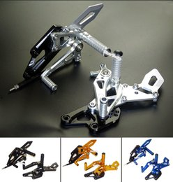 Wholesale CNC Adjustable Rider Rear Sets Rearset Folding Footrest Foot Rest Pegs For Yamaha YZF R3 R25