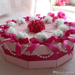 Wholesale 100Pcs Big Size Cake Candy Boxes Sweet Crowns Round Wedding Favor Holders Gift Box Best Selling