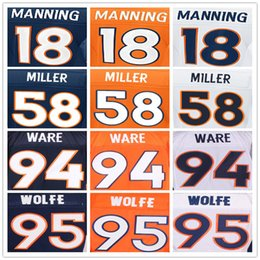 Wholesale Denver football Broncos jerseys Peyton Manning DeMarcus Ware Von Miller Demaryius Thomas Paxton Lynch Emmanuel Sande elite