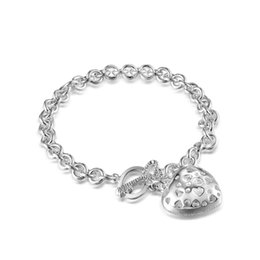 Factory direct wholesale and retail 925 Sterling Silver Heart Key Bracelet Silver Jewelry