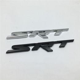 New Brank 1Pcs Metal 3D SRT Emblem Chrome Badge Side Logo Car Stickers Decal For Dodge Ram Challenger Charger