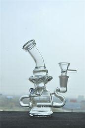 Pulse Recycler Bong 14mm Male Oil Rigs Glass Water Bongs Hookah Shisha Water Bubber Pipes Glass Smoking Bongs