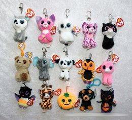 Wholesale TY beanie boos Plush Toys keychain simulation animal TY Stuffed Animals Pendant Keychain super soft inch cm children gifts