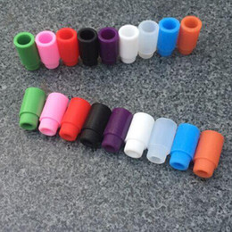 Wholesale In Stock subtank Silicone Mouthpiece Cover Silicon Drip Tip Disposable Colorful Rubber Test dripTip for For Atlantis Subtank Mini Nano