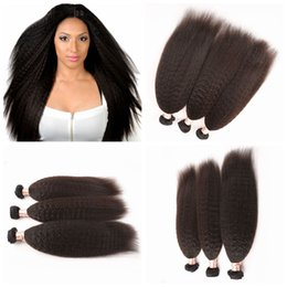 3cs Peruvian Human Italian Yaki Natural Color 8-30 Straight Hair Weave Extensions Soft Relaxed For Women G-EASY Full and Thick