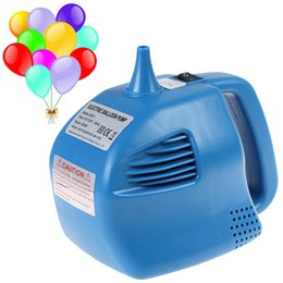 Wholesale Blue Single Nozzle Balloon Inflator W party Electric Balloon Pump HOA_541
