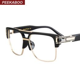 Or gros cadres lunettes à vendre-cadre mens spectacle marque optique or noir cerclées Semi grands verres carrés en gros-2016 cadres unisexe Lunettes uv Montures