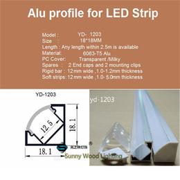 Wholesale set led m aluminium profile for led bar light led strip corner aluminum channel waterproof aluminum housing YD