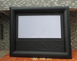 Wholesale m Giant Inflatable Movie Screen Outdoor Inflatable Screen With Blower