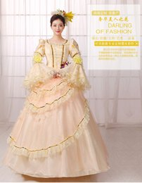 lace golden sequied flower waist ball gown Medieval Renaissance Gown queen cos Victorian dress  Antoinette  Belle ball