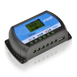 Wholesale Solar Panel Charge Controller Pwm - PWM 20A Solar Charge Controller 12V 24V LCD Display USB 5V Solar Panel Charge Regulator Free Shipping