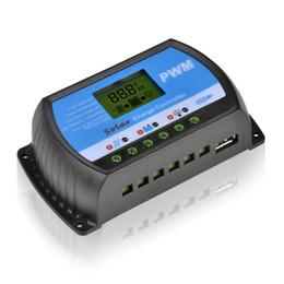 PWM 20A солнечной контроллер заряда 12В 24В ЖК-дисплей USB 5V панели солнечных батарей зарядки регулятора Бесплатная доставка от Производители панели солнечных батарей регулятора контроллер заряда