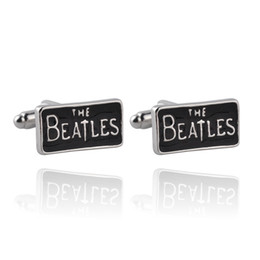United Kingdom Classic The Beatles Rock Band Style Cufflinks For Mens And Women Gifts Top High Quality Brand Cuff Links Buttons 0903817-5