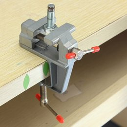 Wholesale 1PC mm Aluminum MiniAture Small Jewelers Hobby Clamp On Table Bench Vise Tool Vice For Holding Parts In Jewelers Hobby Model