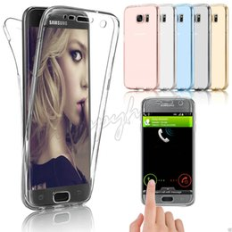 Luxury 360 Degree Shockproof Protecive Phone Case for Samsung Galaxy S3 S4 S5 S6 S7  S7 Edge Transparent Silicon Front Back Cover