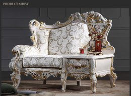 Wholesale Baroque living room sofa furniture European Classic one person chair with table Italian luxury classic sofa set