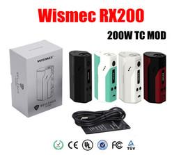 Wholesale Authentic Joyetech Wismec Reuleaux RX200 TC Mod mod Powered Chip Wismec RX200 vs Wismec Reuleaux DNA200 Evic VTC cuboid Mini kit