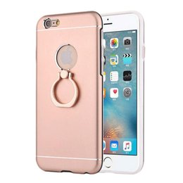 Wholesale For Iphone S Plus G Plus Case With Anti explosion Metal Cases And TPU PC Support Grip Rings Easy Carry