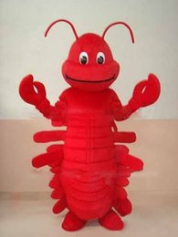Wholesale NO MASCOT Best Price Red Lobster Seafood Mascot Costume Adult Size Christmas Red Prawn Lobster Fancy Dress EMS FREE SHIP
