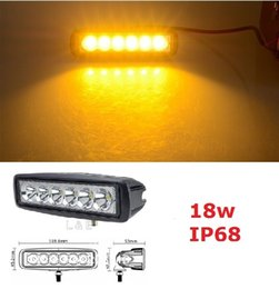 18W flood LED Work ATV 4X4 Off Road Light Lamp Fog Driving Bar For 4x4 Offroad SUV Car Truck Trailer Tractor ATV UTV Vehicle