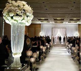 Transparent Plastic Flower Vases for wedding Decoration