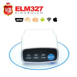 Wholesale Factory Price New White MINI ELM WIFI ON OFF Switch OBD2 OBDII ELM327 V1 for Android IOS Auto Scanner